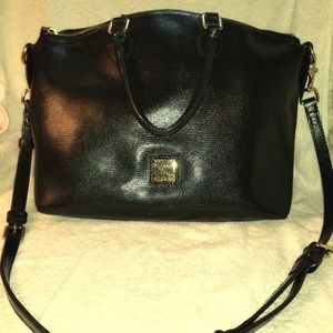 Dooney & Bourke Black Leather Satchel